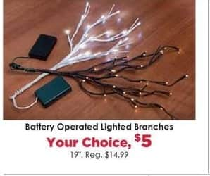 Craft Warehouse Black Friday: Battery Operated Lighted Branches for $5.00