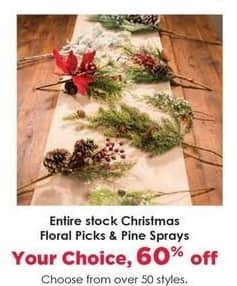 Craft Warehouse Black Friday: Christmas Floral Picks - 60% OFF