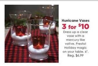 Craft Warehouse Black Friday: (3) Hurricane Vases for $10.00