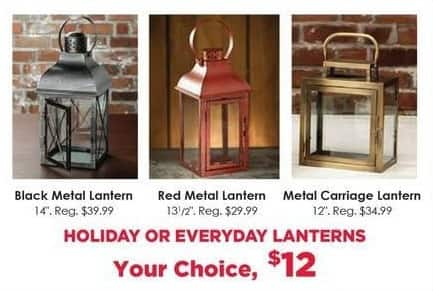 Craft Warehouse Black Friday: Red Metal Lantern for $12.00