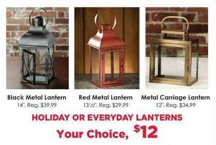 Craft Warehouse Black Friday: Metal Carriage Lantern for $12.00