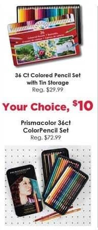 Craft Warehouse Black Friday: Prismacolor 36-ct. ColorPencil Set for $10.00