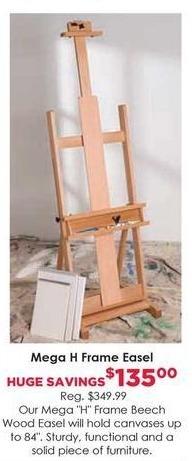 Craft Warehouse Black Friday: Mega H Frame Easel for $135.00