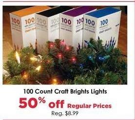 Craft Warehouse Black Friday: Craft Bright 100-ct. Lights - 50% OFF
