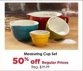 Craft Warehouse Black Friday: Measuring Cup Set - 50% OFF