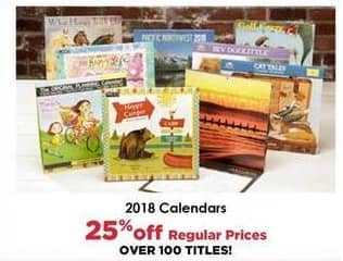 Craft Warehouse Black Friday: 2018 Calendars - 25% OFF