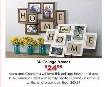Craft Warehouse Black Friday: Collage 3D Frames for $24.99