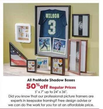 Craft Warehouse Black Friday: PreMade Shadow Boxes - 50% OFF