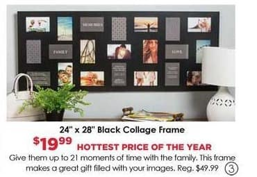 Craft Warehouse Black Friday: Collage Black 24-in. x 28-in. Picture Frame for $19.99