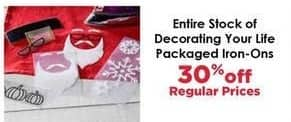 Craft Warehouse Black Friday: Decorating Your Life Packaged Iron-Ons - 30% OFF