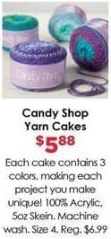 Craft Warehouse Black Friday: Candy Shop Yarn Cakes for $5.88