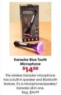 Craft Warehouse Black Friday: Karaoke Bluetooth Microphone for $14.88