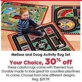 Craft Warehouse Black Friday: Melissa & Doug Activity Rug Set - 30% OFF