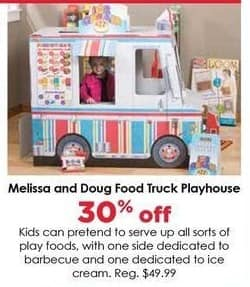 Craft Warehouse Black Friday: Melissa & Doug Food Truck Playhouse - 30% OFF