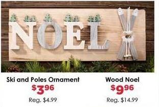 Craft Warehouse Black Friday: Ski & Poles Ornament for $3.96