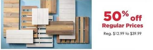 Craft Warehouse Black Friday: Slat Boards - 50% OFF