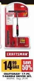 Blains Farm Fleet Black Friday: Craftsman 17-Pc. T-Handle Driver Kit for $14.99