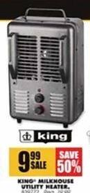 Blains Farm Fleet Black Friday: King Milkhouse Utility Heater for $9.99