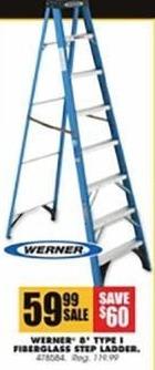 Blains Farm Fleet Black Friday: Werner 8' Type 1 Fiberglass Step Ladder for $59.99