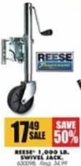 Blains Farm Fleet Black Friday: Reese 1,000 Lb. Swivel Jack for $17.49
