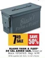 Blains Farm Fleet Black Friday: Blains Farm & Fleet 50 Cal Ammo Can for $7.49
