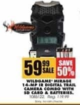 Blains Farm Fleet Black Friday: Wildgame Mirage 1.4-MP IR Digital Trail Camera Combo w/ SD Card & Batteries for $59.99