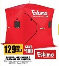 Blains Farm Fleet Black Friday: Eskimo Quickfish 3 Portable Ice Shelter for $129.99
