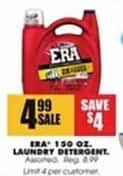 Blains Farm Fleet Black Friday: Era 30 oz. Laundry Detergent for $4.99