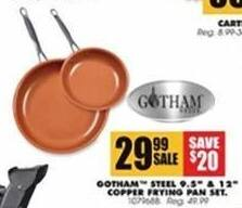 Blains Farm Fleet Black Friday: Gotham Steel 9.5'' & 12'' Copper Frying Pan Set for $29.99