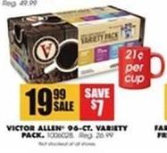 Blains Farm Fleet Black Friday: Victor Allen 96-Ct. Coffee Variety Pack for $19.99