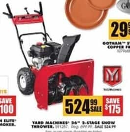 Blains Farm Fleet Black Friday: Yard Machines 26'' 2-Stage Snow Thrower for $524.99