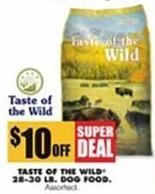 Blains Farm Fleet Black Friday: Taste Of The Wild 28-30 Lb. Dog Food - $10.00 Off
