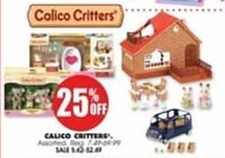 Blains Farm Fleet Black Friday: Calico Critters Assorted Toys - 25% OFF