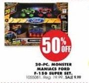Blains Farm Fleet Black Friday: Monster Maniacs Ford F-150 20-Pc. Super Set - 50% OFF