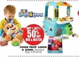 Blains Farm Fleet Black Friday: Fisher Price Laugh & Learn - B1G1 50% OFF