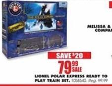 Blains Farm Fleet Black Friday: Lionel Polar Express Ready To Play Train Set for $79.99