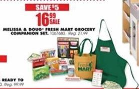 Blains Farm Fleet Black Friday: Melissa & Doug Fresh Mart Grocery Companion Set for $16.99