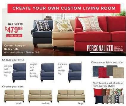 Value City Furniture Black Friday: Conner Sofa for $479.99