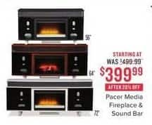 Value City Furniture Black Friday: Pacer Media Fireplace & Sound Bar for $399.99