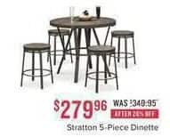 Value City Furniture Black Friday: Stratton 5-pc. Dinette for $279.96