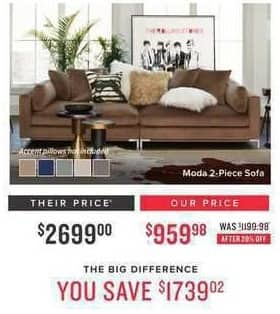 Charmant Value City Furniture Black Friday: Moda 2 Pc. Sofa For $959.98. See Deal