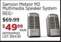 Sam Ash Black Friday: Samson Meteor M2 Multimedia Speaker System for $49.99