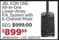 Sam Ash Black Friday: JBL EON ONE All-In-One Linear-Array P.A. System w/ 6-Channel Mixer for $899.99