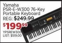 Sam Ash Black Friday: Yamaha PSR-E-W300 76-Key Portable Keyboard for $199.99