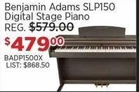 Sam Ash Black Friday: Benjamin Adams SLP150 Digital Stage Piano for $479.00
