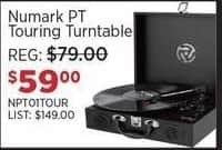 Sam Ash Black Friday: Numark PT Touring Turntable for $59.00
