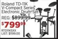 Sam Ash Black Friday: Roland TD-11K V-Compact Series Electronic Drum Set for $799.99