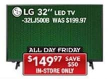 """PC Richard & Son Black Friday: 32"""" LG 32LJ5008 LED TV for $149.97"""