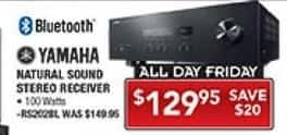 PC Richard & Son Black Friday: Yamaha Natural Sound Stereo Receiver w/ Bluetooth for $129.95