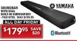 PC Richard & Son Black Friday: Yamaha Soundbar w/ Dual Built-In Subwoofers for $179.95